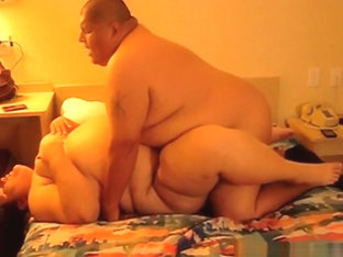 Fat mature couple missionary sex in the bedroom