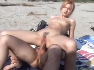 group fucking on a nude beach