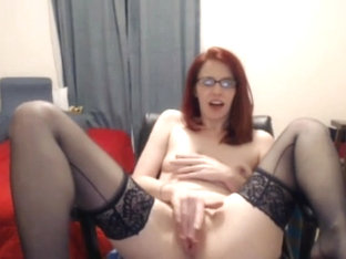 Red haired slutty nerdy hottie