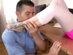 Exotic pornstar Bella Baby in horny lingerie, foot fetish xxx video