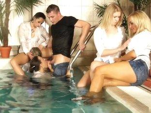 Crazy pornstar in fabulous group sex, blowjob sex scene