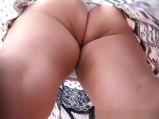 Big ass under skirt