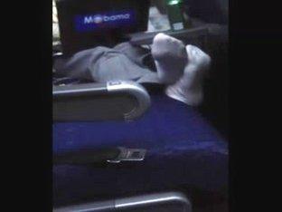 white socks on the plane