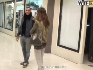 Sweet seduction of a girl Marya in the mall