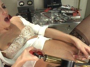 Fabulous fetish xxx clip with amazing pornstar Roxy Rox from Fuckingmachines