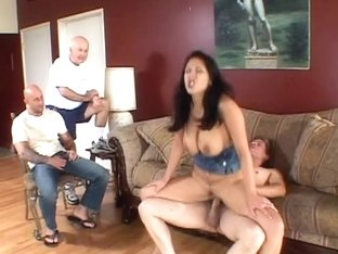 Old fellow watches his juvenile wife receives her zeppelins and love tunnel screwed