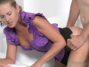 Bald guy David meets the female porn agent