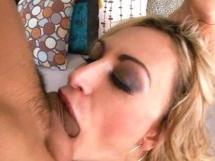 Hot blonde Claudia Valentine sucks and rides hard rod