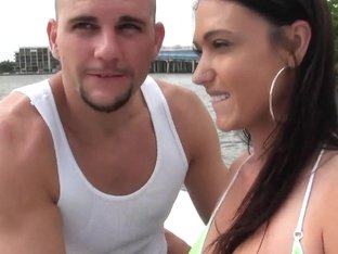 Jmac and Victoria Love have some smooches on camera