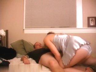 MILF in a nightgown teasing