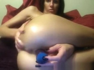 Big Boobs Brunette Bating On Cam