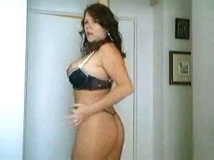 MILF dances in lingerie for camera
