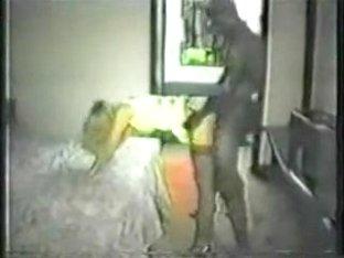 Lustful wife getting screwed by dark guy in a cheap motel