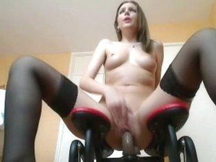 Sex machine is intend to make her cum