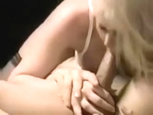 A horny blonde sucking my hard cock