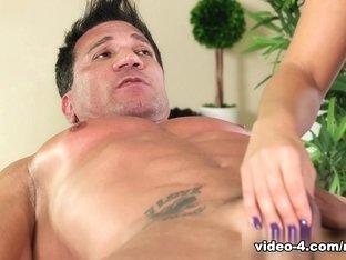 Exotic pornstars Marco Banderas, Madelyn Monroe in Crazy Facial, Blonde sex movie