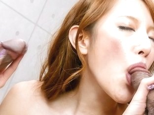 Horny Japanese whore Mai Shirosaki in Best JAV uncensored Threesomes scene