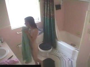Teen in Bathroom