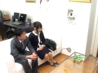 Kaoru is humped very hard by a huge hammer in japanese movie