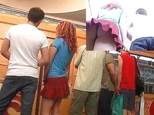 View up redhead's petticoat