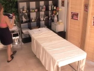 Asian doggy style and fast drilling in hot massage spy movie