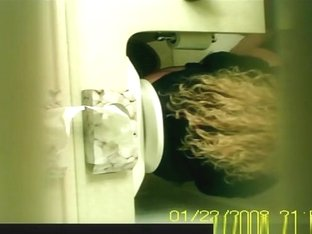 Blond Caught Peeing