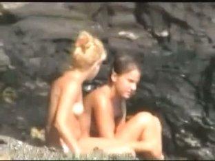 Smoking hot bunnies filmed on a nudist beach