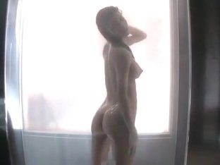 Exotic playgirl with perfect tits exposes her body in the shower