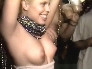 Wild girls flashing their boobs in public