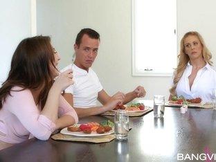 Cherie Deville, Jojo Kiss In Table Manners