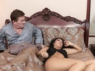 Asa Akira squirting and getting fucked in all of her holes