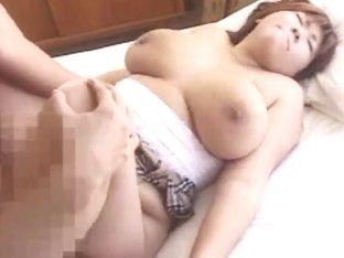 japanese schoolgirl large bobs milk shakes breasty cute hotty