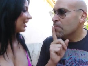 Spectacular sex in the open air with Anissa Kate