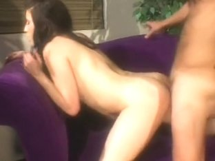 Nasty Young Brunette Works For That Jizz