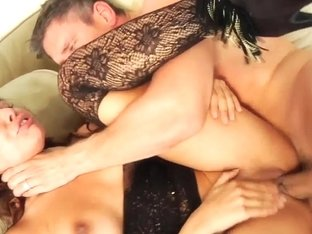 Glam beauty rough fucked in lace lingerie