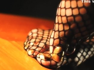 Darla TV - Sexy Toe Tease In Fishnet Stockings