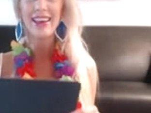 Busty Blonde Fashion Show On Cam