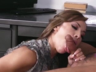 Young slutty girl Kristina Rose fucks in the office
