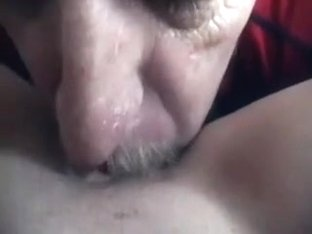 My aged husband makes me film him eating my bawdy cleft