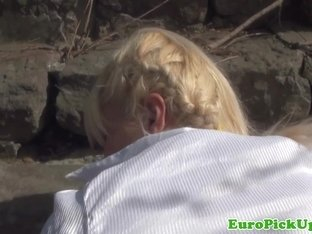 Public euro Kristen pickedup and pussypounded