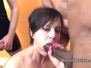 Small mother i'd like to fuck takes a facefull of cum