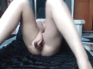 Porn video with hot dildo sucking