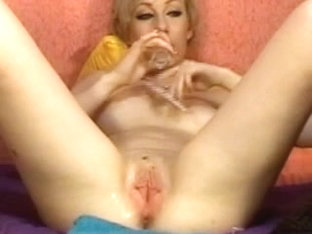 Licking my squirt on webcam