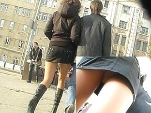 Masterfully discharged upskirt