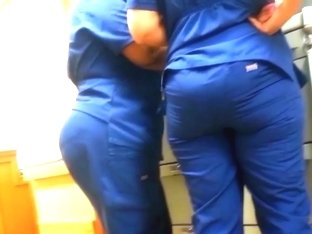 FINE ASS NURSE IN SKIN TIGHT SCUBS!!!!