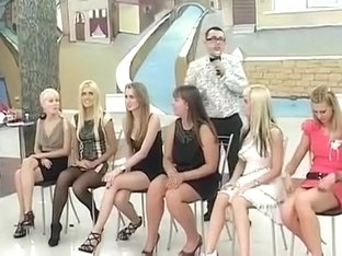 Russian bridesmaids playing an interesting wedding game
