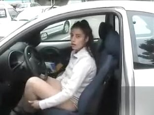 Female public masturbation in a crowded parking lot