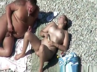 Nudist woman with hairy pussy