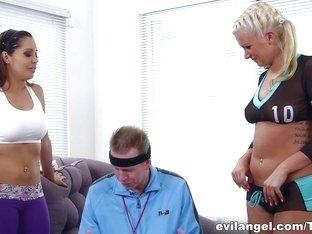 Fabulous pornstars Laela Pryce, Mark Wood in Amazing Dildos/Toys, Threesomes adult scene