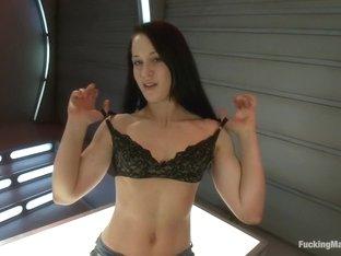 Horny ebony, fetish xxx video with exotic pornstar Cheyenne Jewel from Fuckingmachines